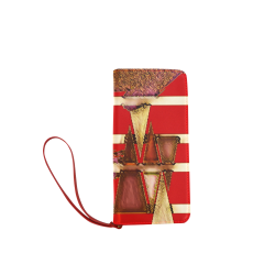 Colorful Geometric Shapes on Red Design By Me Doris Clay-Kersey Women's Clutch Wallet (Model 1637)