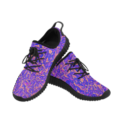 70s chic moire 3 Grus Women's Breathable Woven Running Shoes (Model 022)