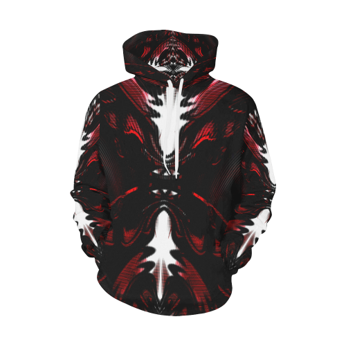 Red Alien Queen Crew All Over Print Hoodie for Women (USA Size) (Model H13)