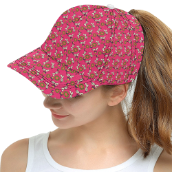 clown ghost pattern pink All Over Print Snapback Hat D