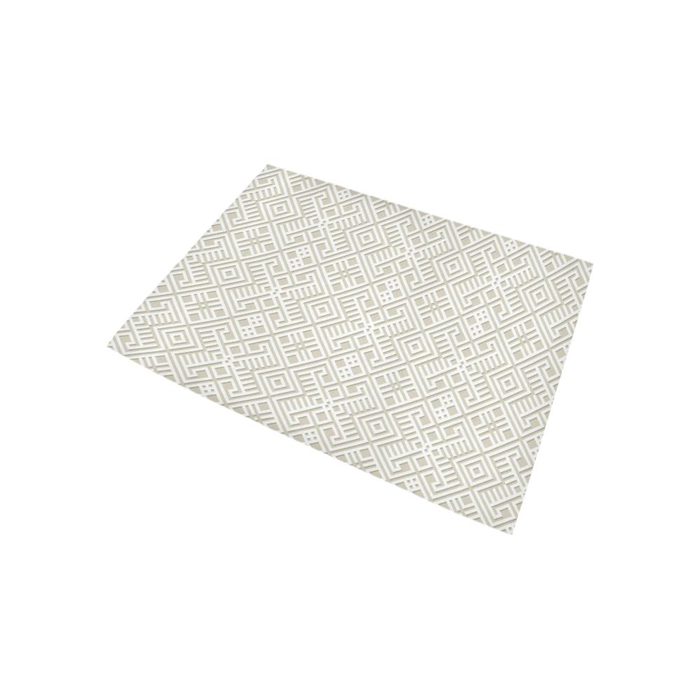 White 3D Geometric Pattern Area Rug 5'3''x4'