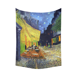 """Vincent Willem van Gogh - Cafe Terrace at Night Cotton Linen Wall Tapestry 60""""x 80"""""""