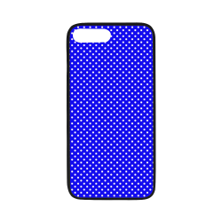"Blue polka dots Rubber Case for iPhone 7 plus (5.5"")"