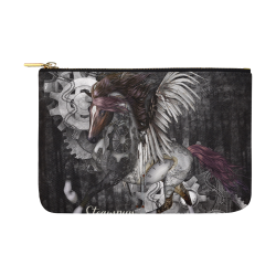 Aweswome steampunk horse with wings Carry-All Pouch 12.5''x8.5''
