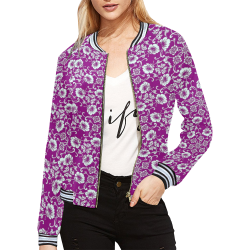 FLORAL DESIGN 42 All Over Print Bomber Jacket for Women (Model H21)