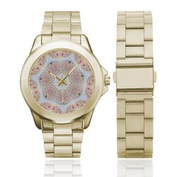 Love and Romance Heart Shaped Sugar Cookies Custom Gilt Watch(Model 101)