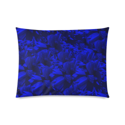 "A202 Rich Blue and Black Abstract Design Custom Zippered Pillow Case 20""x26""(Twin Sides)"