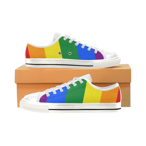 Colores LGBT+ Women's Classic Canvas Shoes (Model 018)