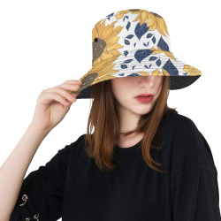 Sunflowers All Over Print Bucket Hat