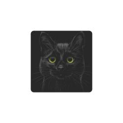 Black Cat Square Coaster