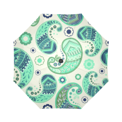 Seafoam Paisley Auto-Foldable Umbrella (Model U04)