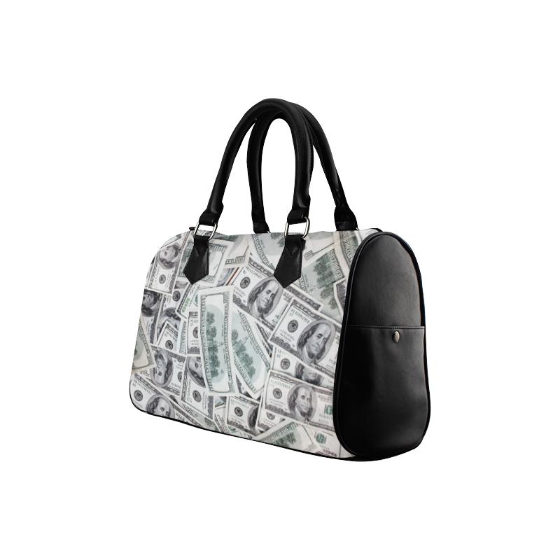 Cash Money / Hundred Dollar Bills Boston Handbag (Model 1621)