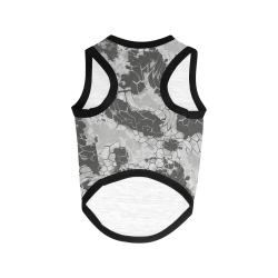 grey dragon reptile snakeskin camouflage pattern All Over Print Pet Tank Top