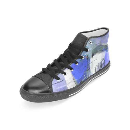 Lua blue Women's Classic High Top Canvas Shoes (Model 017)