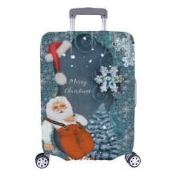 "Funny Santa Claus Luggage Cover/Large 26""-28"""