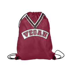 "Vegan Cheerleader Large Drawstring Bag Model 1604 (Twin Sides)  16.5""(W) * 19.3""(H)"