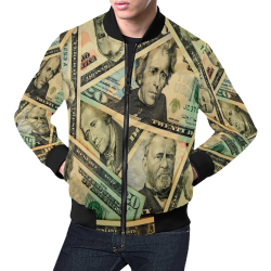 DOLLARS 2 All Over Print Bomber Jacket for Men (Model H19)