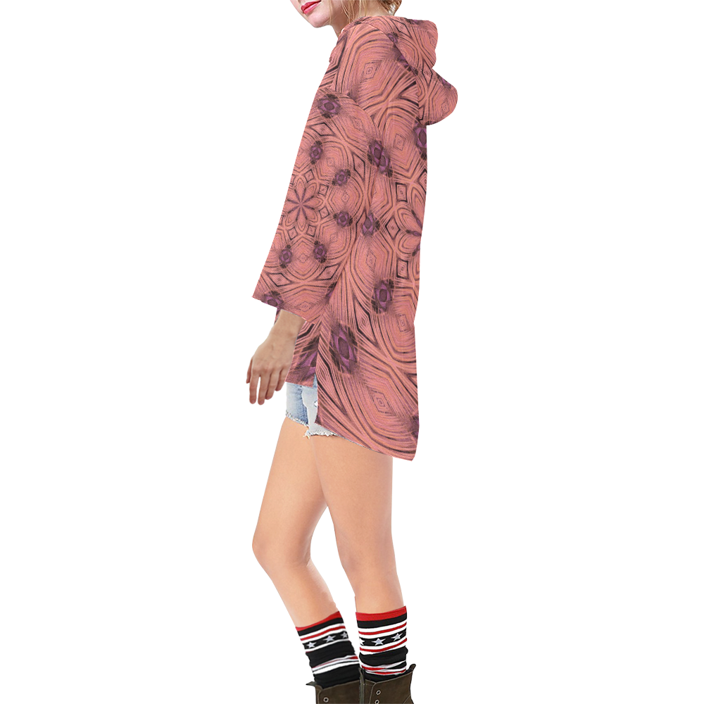 IMG_3364z Step Hem Tunic Hoodie for Women (Model H25)