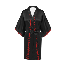 Black and Red Playing Card Shapes Kimono Robe