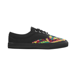 Modern Geometric Pattern Aries Women's Canvas Shoes (Model 029)
