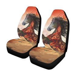 Awesome creepy horse with skulls Car Seat Covers (Set of 2)
