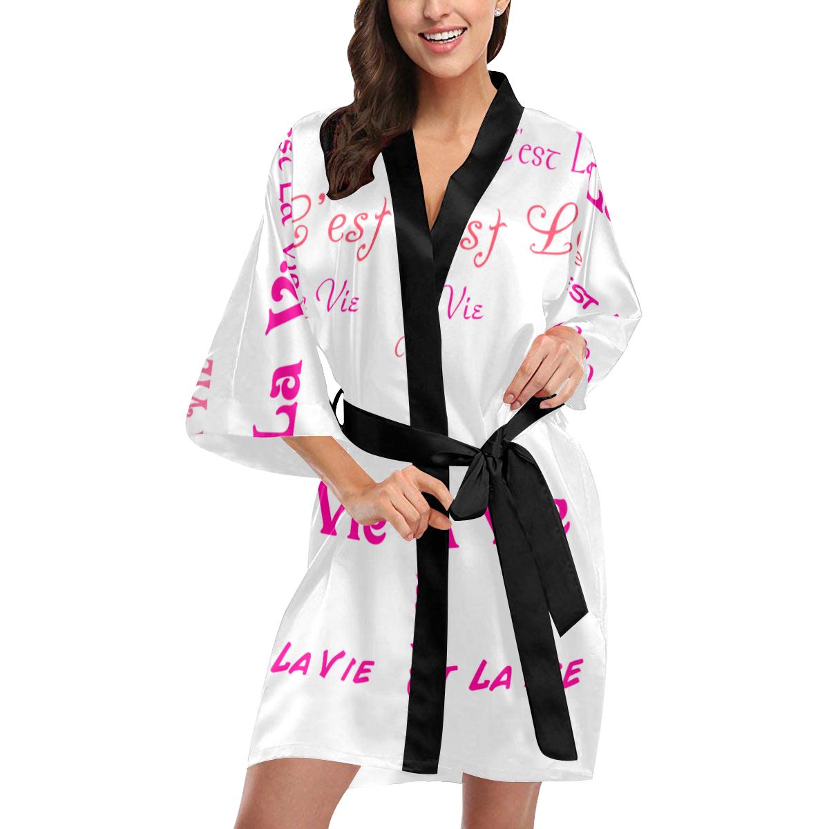 Fuchsia C'est La Vie Kimono Robe