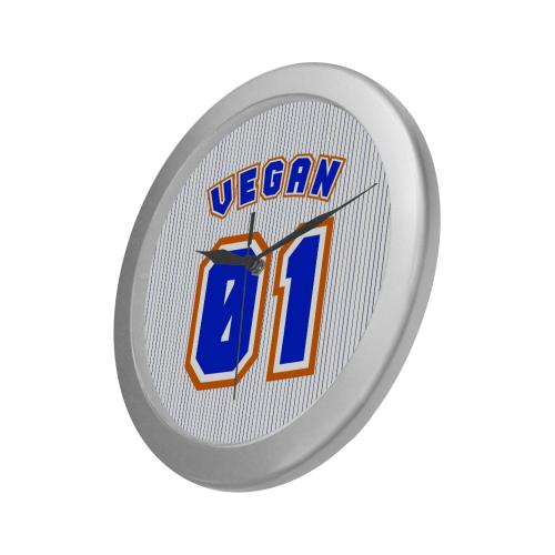 No. 1 Vegan Silver Color Wall Clock