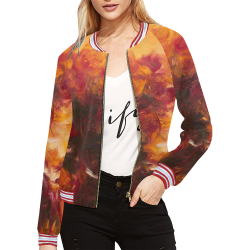 Are Roses Sir All Over Print Bomber Jacket for Women (Model H21)