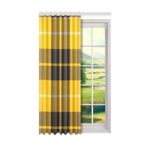 "BARCLAY DRESS LIGHT MODERN TARTAN Window Curtain 50"" x 84""(One Piece)"