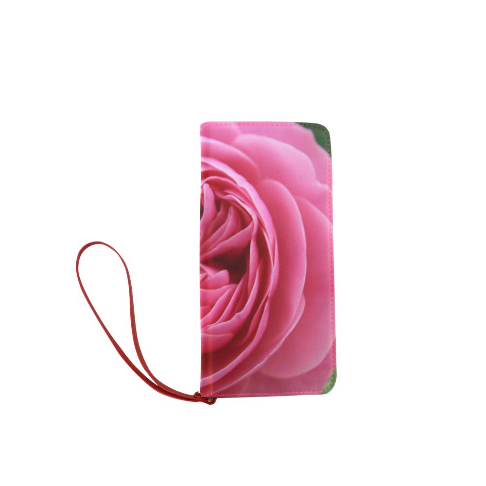 Rose Fleur Macro Women's Clutch Wallet (Model 1637)