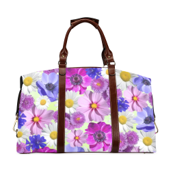 FLORAL DESIGN 43 Classic Travel Bag (Model 1643) Remake