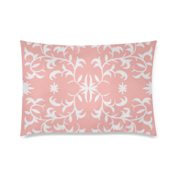 "floral damask Custom Zippered Pillow Case 20""x30""(Twin Sides)"