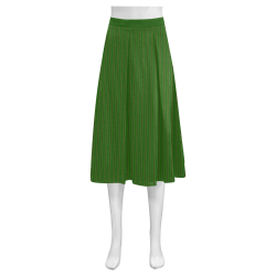 African Diagonal Green Flowers Mnemosyne Women's Crepe Skirt (Model D16)