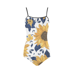 Sunflowers Strap One Piece Swimsuit Strap Swimsuit ( Model S05)