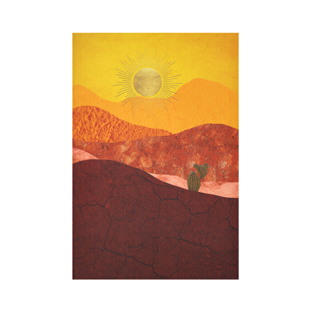"""In The Desert Cotton Linen Wall Tapestry 60""""x 90"""""""