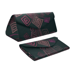 Psychedelic 3D Square Spirals - pink and orange Custom Foldable Glasses Case