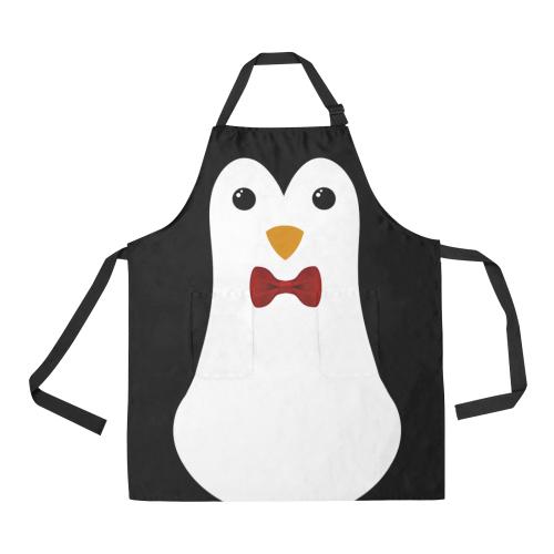 Penguin Kawaii Style Boy All Over Print Apron