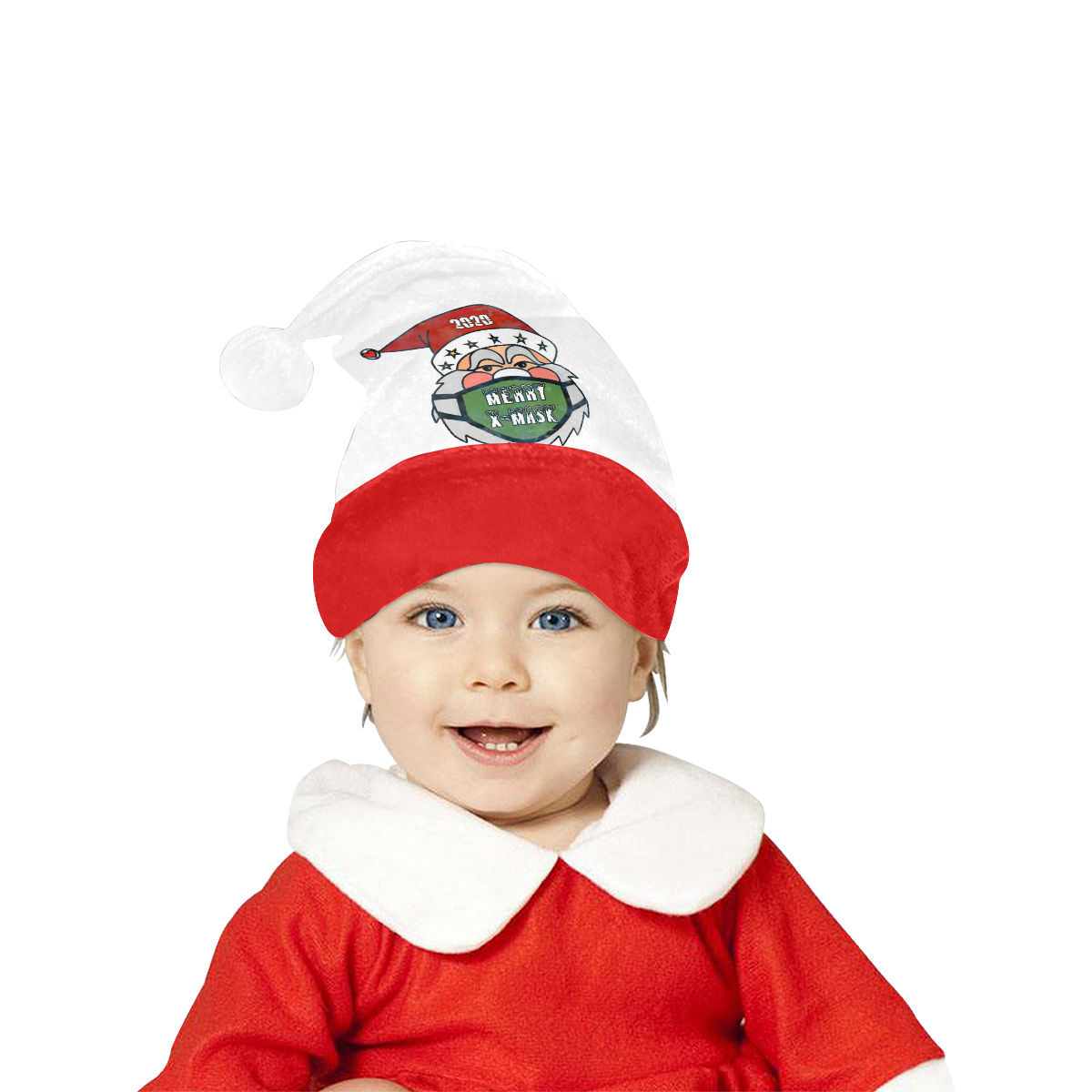 X Mask Christmas by Nico Bielow Santa Hat