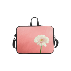 Gerbera Daisy - White Flower on Coral Pink Macbook Air 11''