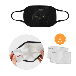 Black Cat Mouth Mask (2 Filters Included) (Non-medical Products)