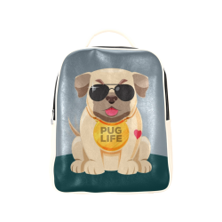 Silly Pug Life - Pug with Sunglasses Popular Backpack (Model 1622)