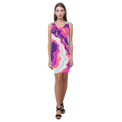 Pink and Purple Geode Medea Vest Dress (Model D06)