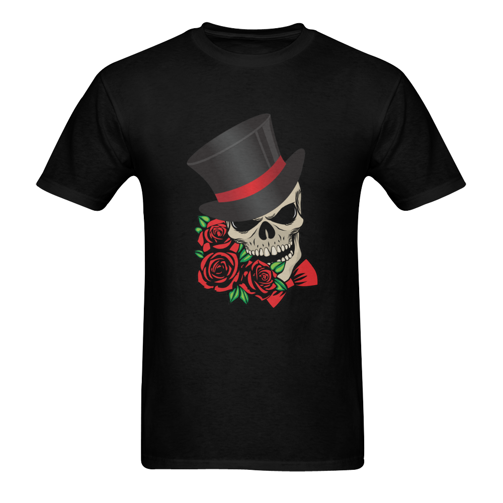 Gentleman Skull Men's T-Shirt in USA Size (Two Sides Printing)