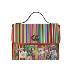 Summer Love Waterproof Canvas Bag/All Over Print (Model 1641)