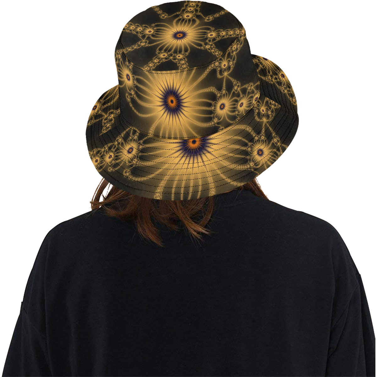 Orange Flower Bloom All Over Print Bucket Hat
