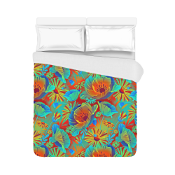 "bright tropical floral Duvet Cover 86""x70"" ( All-over-print)"