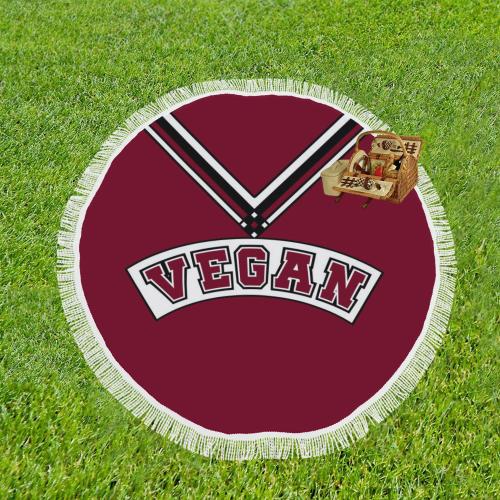 "Vegan Cheerleader Circular Beach Shawl 59""x 59"""