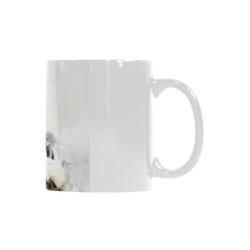 Girl in a cafe bar Custom White Mug (11OZ)