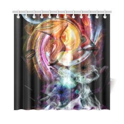 "Dark Universe by Nico Bielow Shower Curtain 72""x72"""