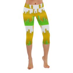 colors is beautiful Low Rise Capri Leggings (Invisible Stitch) (Model L08)